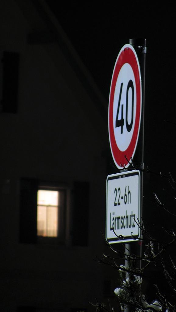 Seit Donnerstag gilt in Gaisbeuren nachts Tempo 40